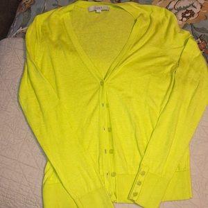 Yellow/Green Loft Cardigan
